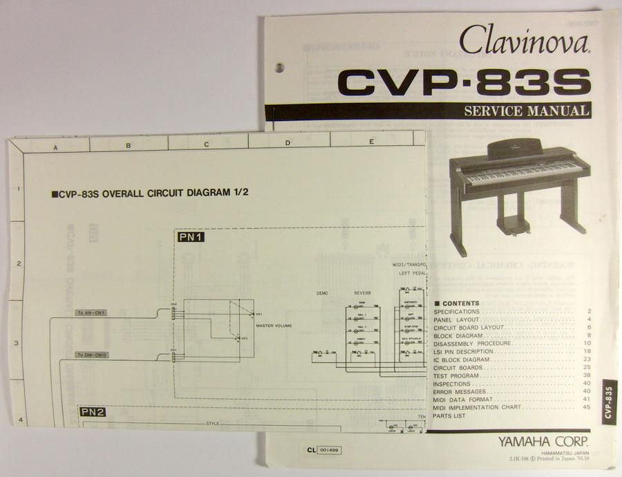 yamaha clavinova cvp 83s service manual ebay. Black Bedroom Furniture Sets. Home Design Ideas