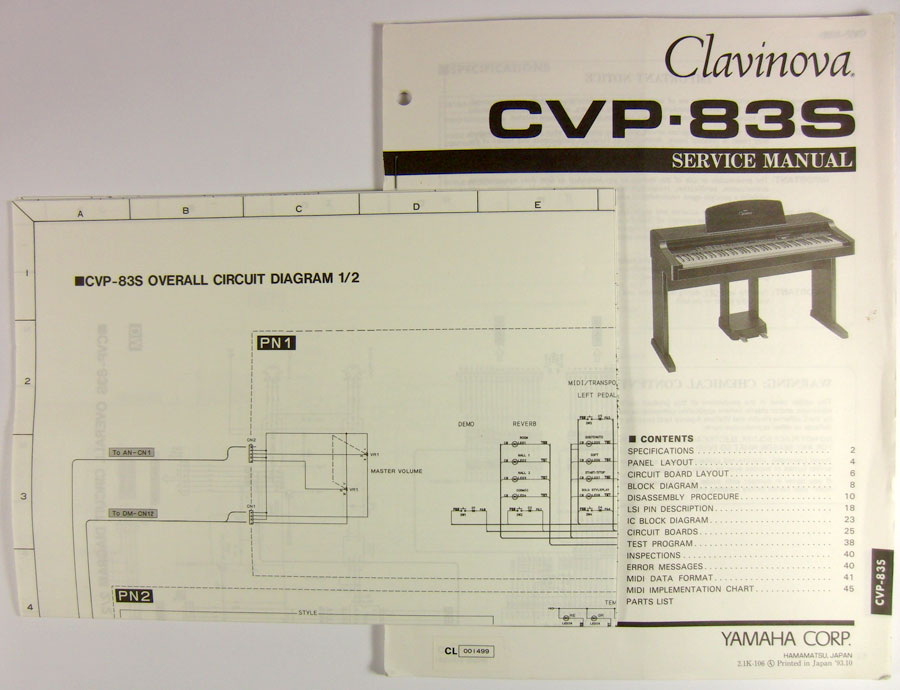 Clavinova clp 123 service manual